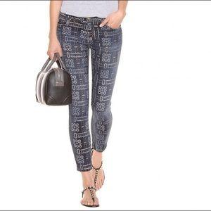Current Elliot The Stiletto Bandana Print Jeans 28
